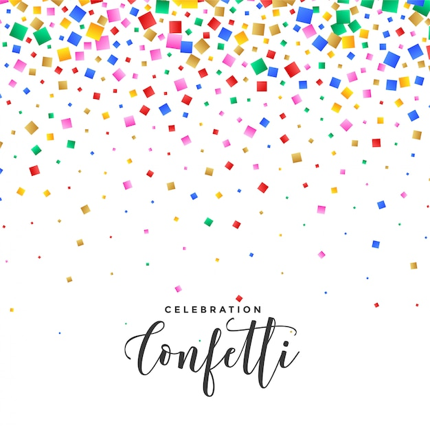 Falling confetti background in many colors Vector | Free