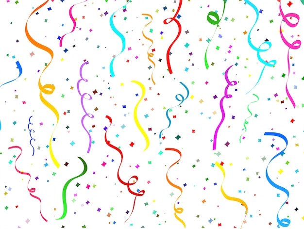 Falling confetti background Free Vector