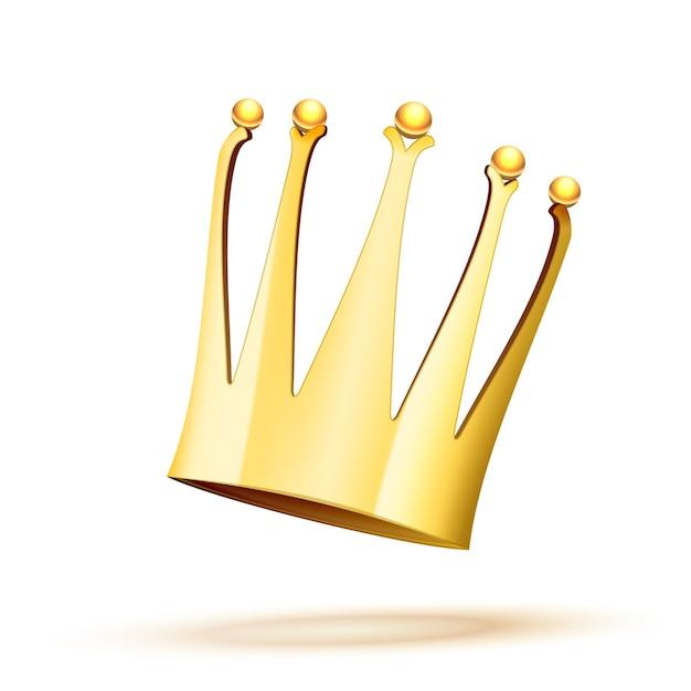 落下する金の王冠 無料ベクター