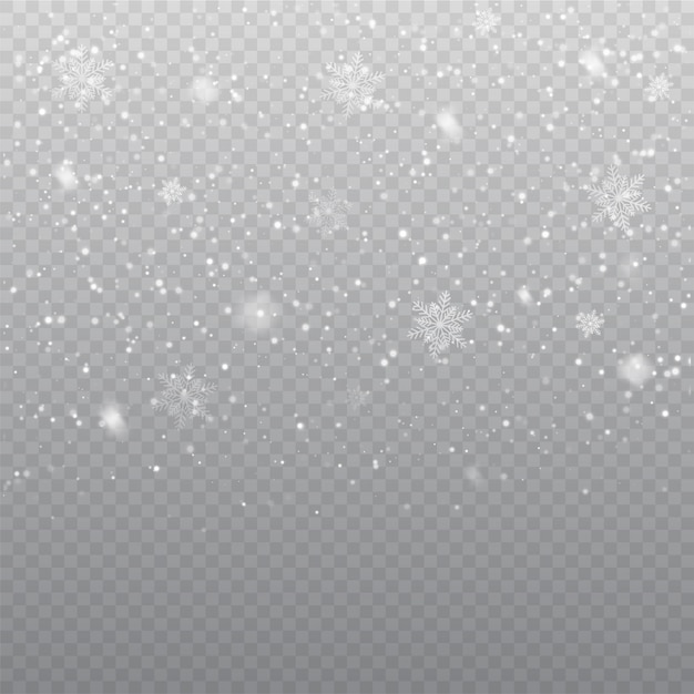 Falling snow overlay background Premium Vector