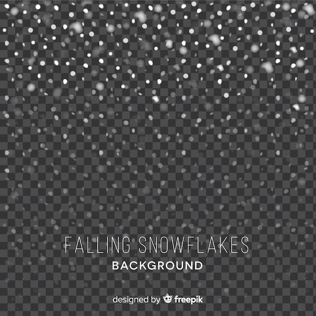 Falling snowflakes background Free Vector