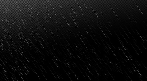 Falling water drops in the dark Free Vector
