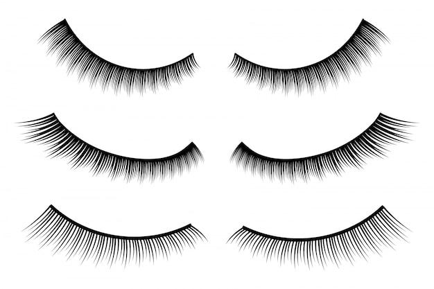 False eyelashes Premium Vector
