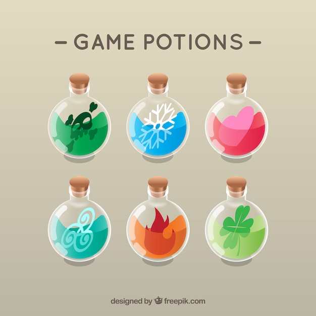 Fame potions Free Vector
