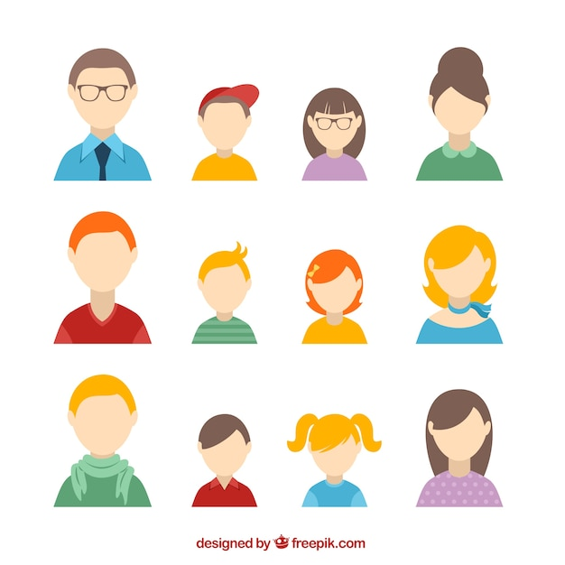 Family avatars Vector