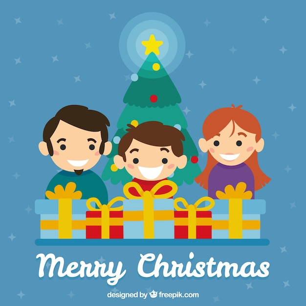family background opening christmas gifts stock images page