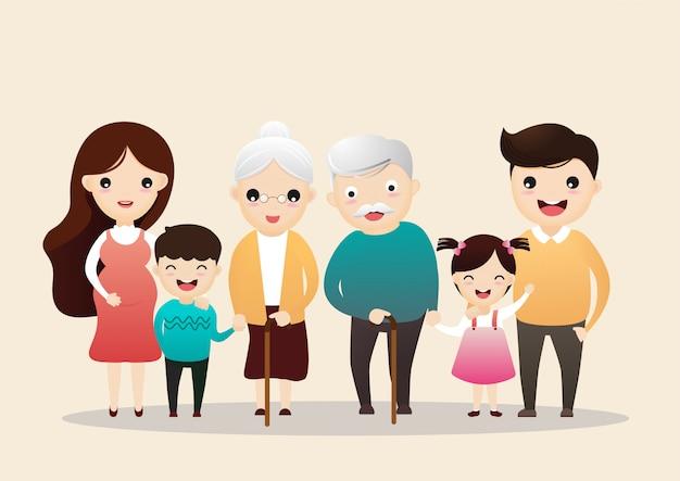 Family character. Premium Vector