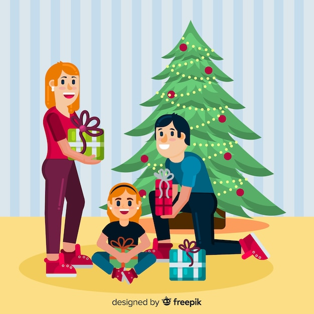 Christmas Background Images Portrait.Family Christmas Portrait Background Vector Free Download