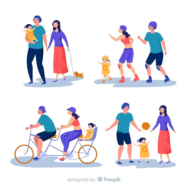 Family collection Free Vector