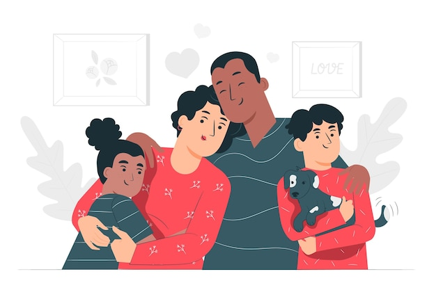 Family concept illustration Free Vector