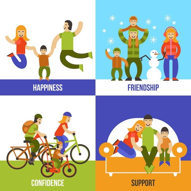 Family concept Free Vector