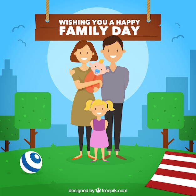 Family Day Background Vector Premium Download