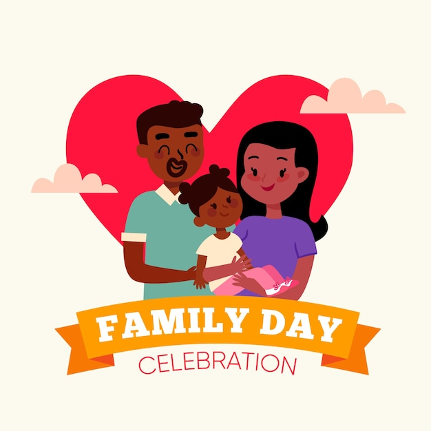 Design piatto per la celebrazione della giornata della famiglia Vettore gratuito