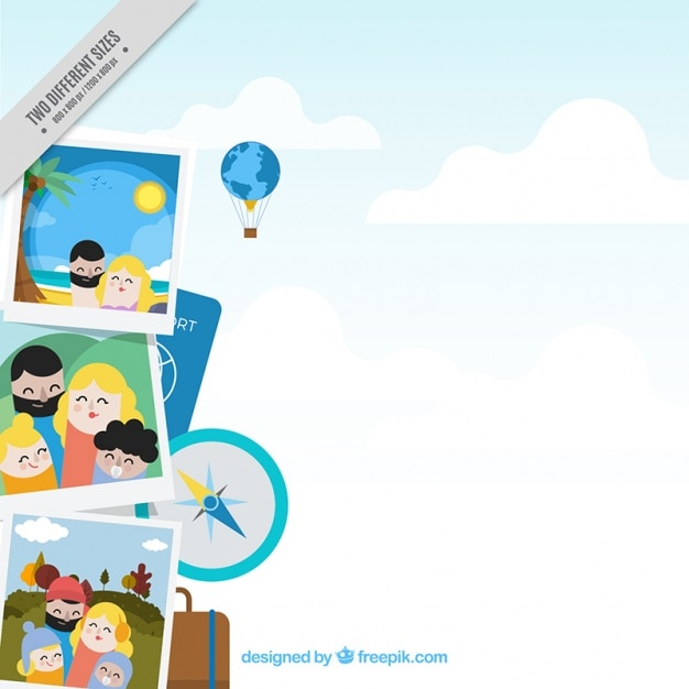 Family Holiday Photos Background Vector Free Download