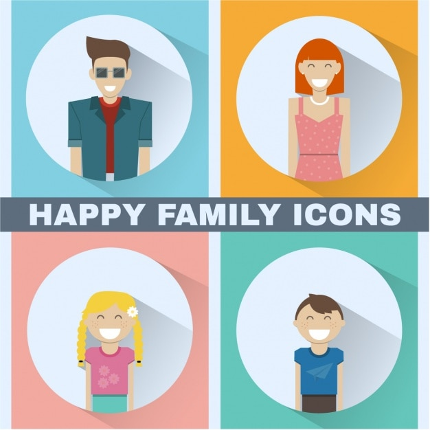 Family icons collection