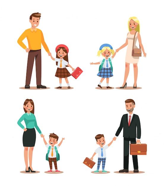 Family lifestyle Premium Vector