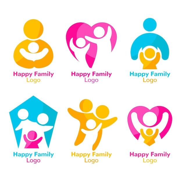 Концепция семейного логотипа Бесплатные векторы