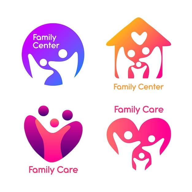 Free Vector Family Logo Collection