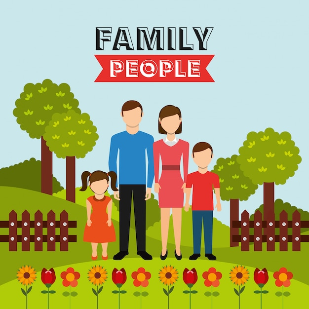 Family people design Free Vector