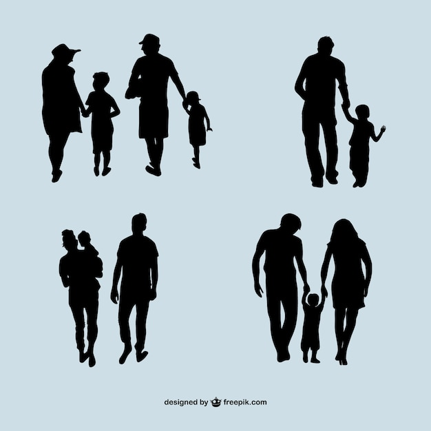 family silhouettes vector free download rh freepik com silhouette vector files free silhouette vector images