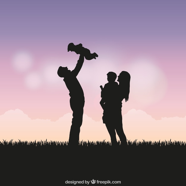 Family Silhouette Vectors Photos And PSD Files
