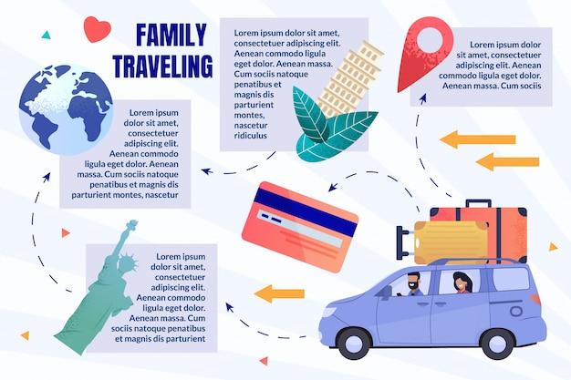 Family traveling infographic Premium Vector