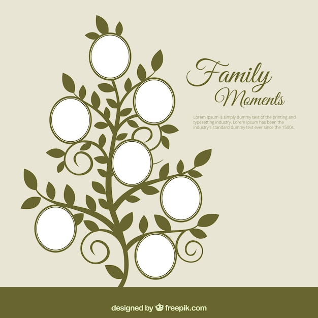 Family tree in abstract style Free Vector