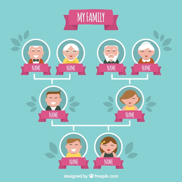 family tree illustration vector free download