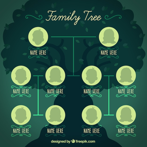 Family Tree Template Vector Free Download