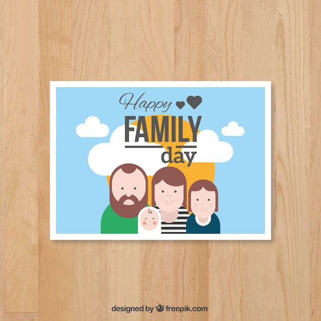 Family with a baby card