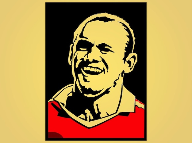 Famous soccer player rooney vector