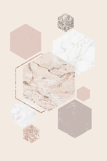 Fancy marble patterned card Free Vector