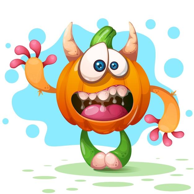 Fanny, cute, crazy cartoon characters Premium Vector
