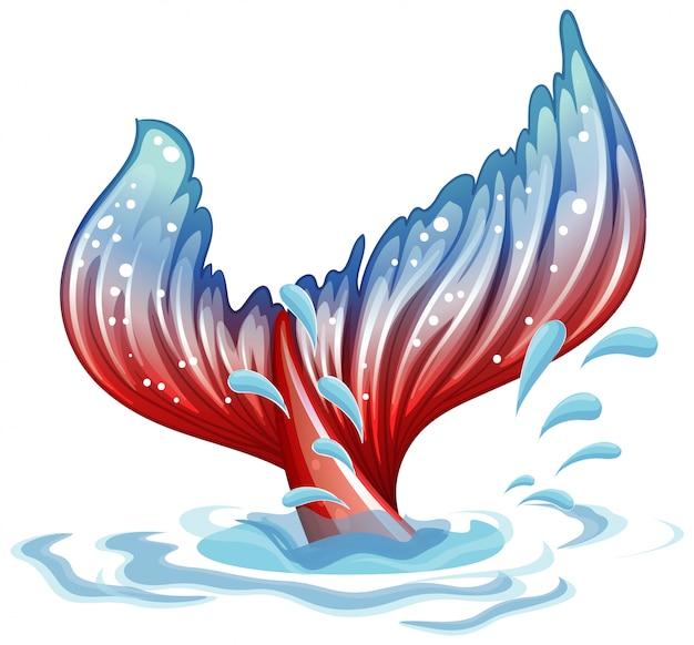水中の人魚のヒレを使った幻想的なテーマ 無料ベクター