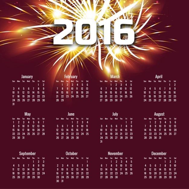Fantastic 2016 calendar