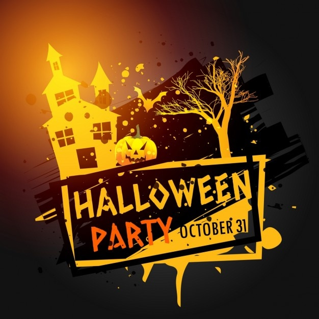 Fantastic background for halloween party Free Vector