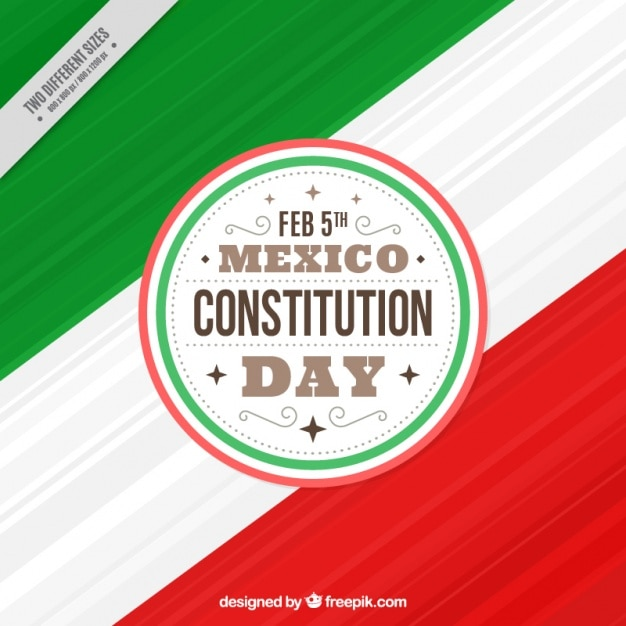 Fantastic background for mexico constitution day Free Vector