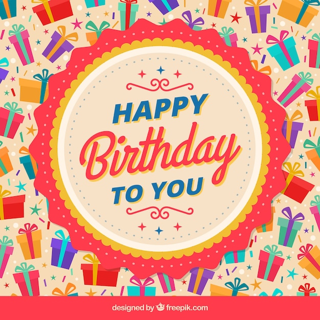 Fantastic background with colorful birthday gifts vector free download fantastic background with colorful birthday gifts free vector negle Image collections
