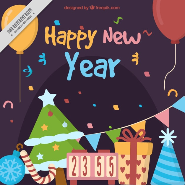 colorful new year decoration - photo #40