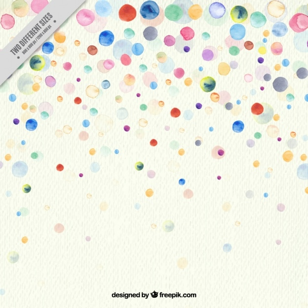 Fantastic background with colorful watercolor stains Free Vector