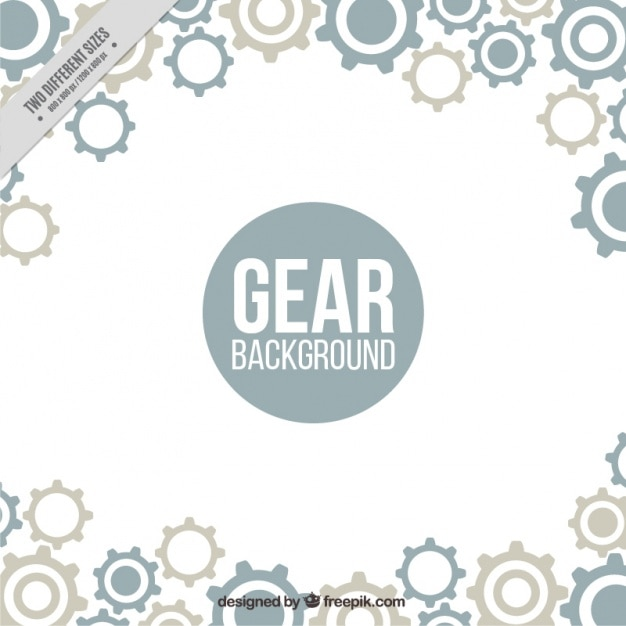 Fantastic background with gears in flat design Free Vector