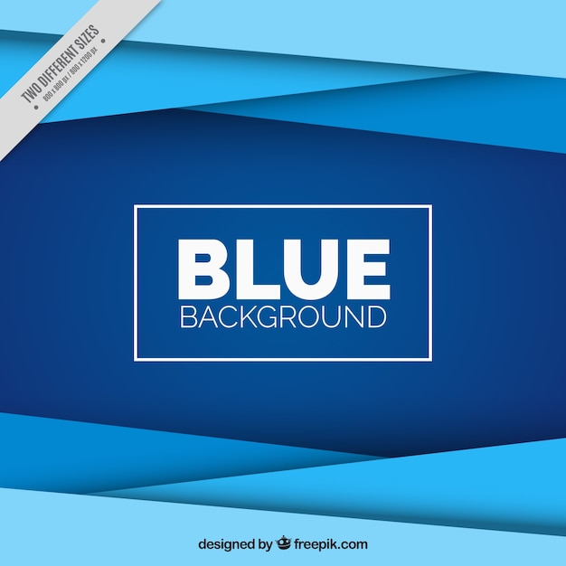 Fantastic background with geometric forms in blue tones Free Vector