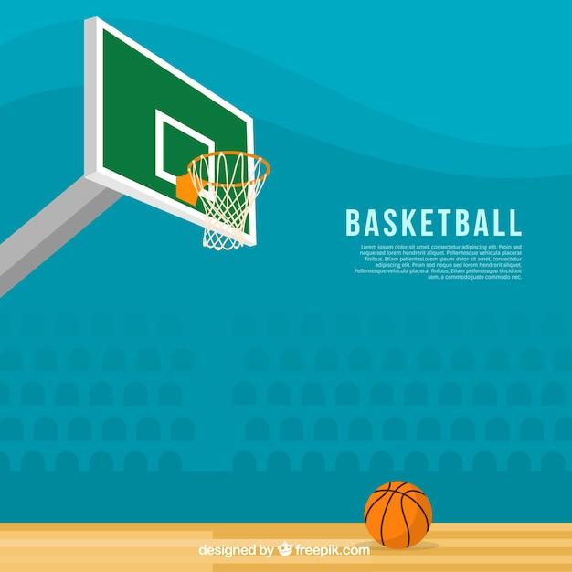 Fantastic basketball background in flat\ design