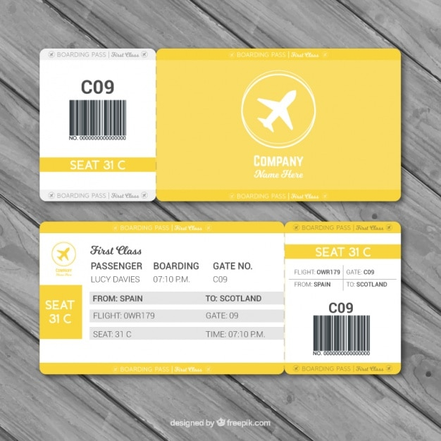 Fantastic boarding pass template with gray details Vector ...