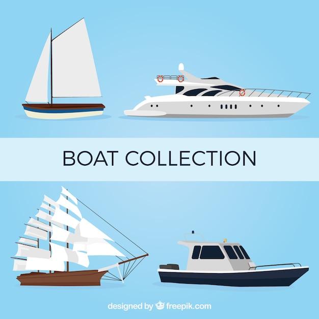 Fantastic boats in realistic design