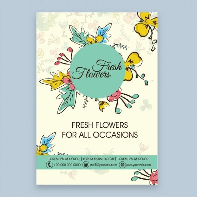 Fantastic brochure for a florist Premium Vector
