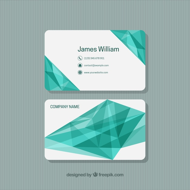 Fantastic business card with abstract forms