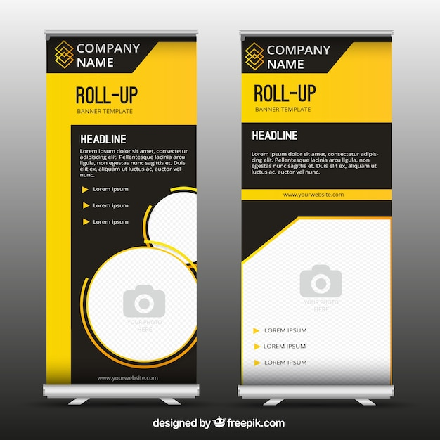 Fantastic business roll up with yellow forms