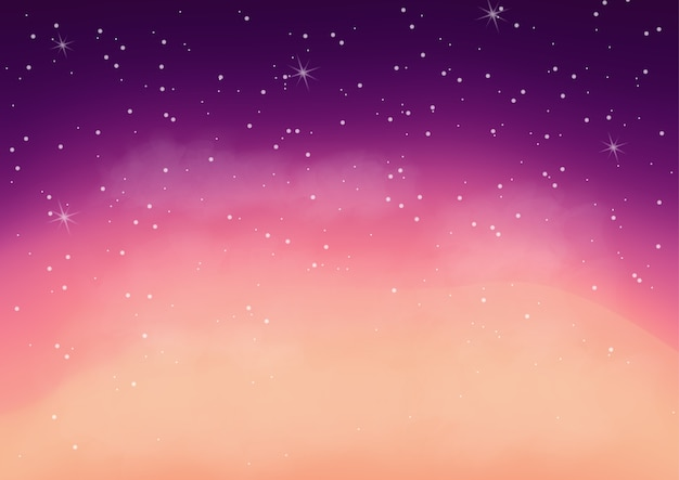 Fantastic colorful galaxy,abstract cosmic background Premium Vector