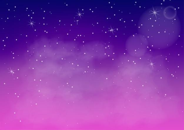 Fantastic colorful galaxy Premium Vector